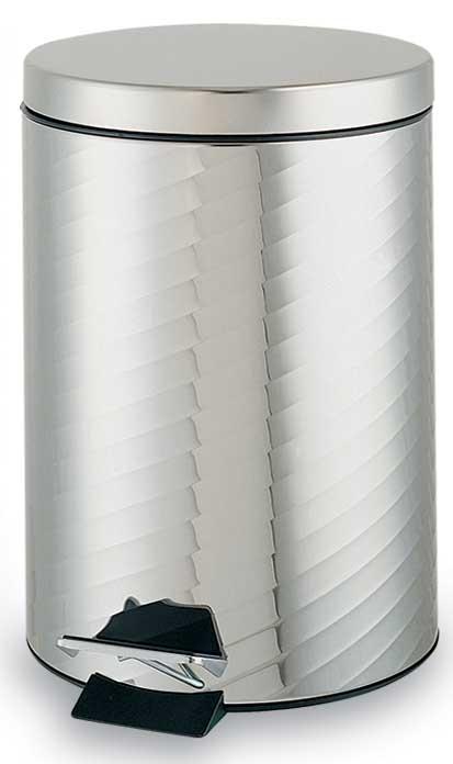 不锈钢垃圾桶系列 c-05不锈钢脚踏垃圾桶 (小)   c-05首创立体螺旋纹